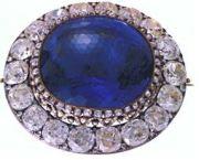 March Romanov Sapphire Brooch